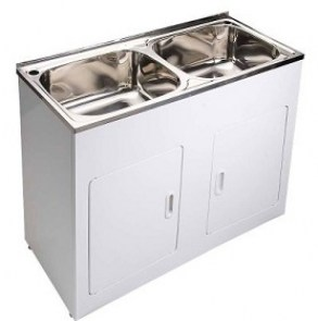 double laundry cabinet