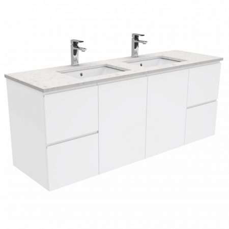 finger pull wall-hung stone vanities